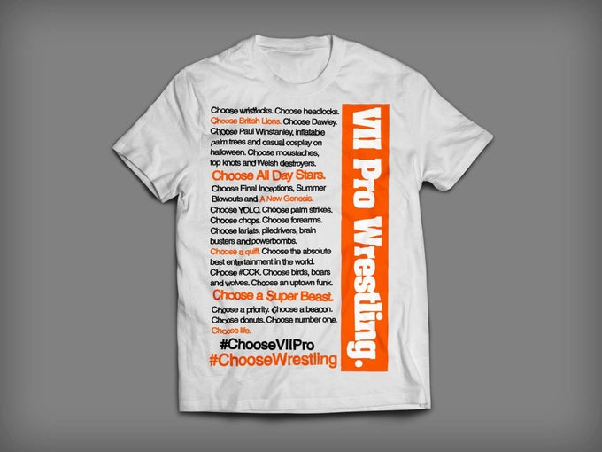 Image of Choose Wrestling Tee IN STOCK NOW (sizes S-XXL)
