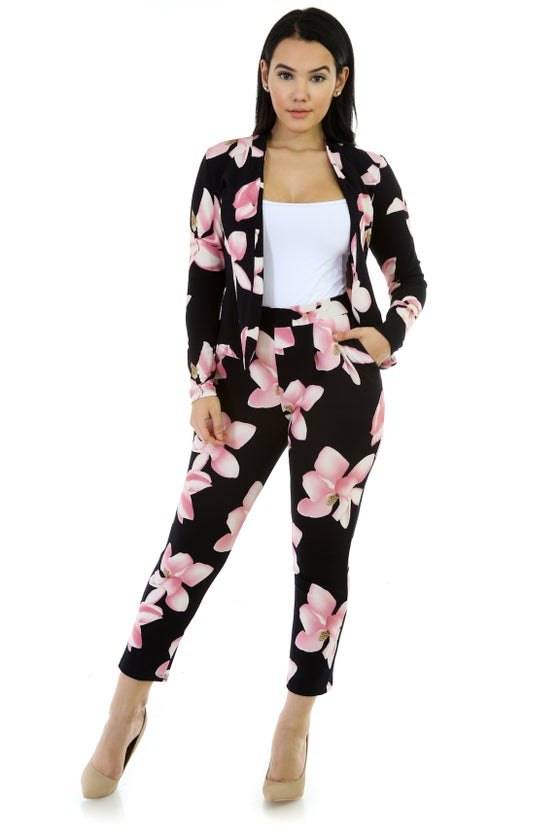 Image of  Stretchy Pants Suit Set