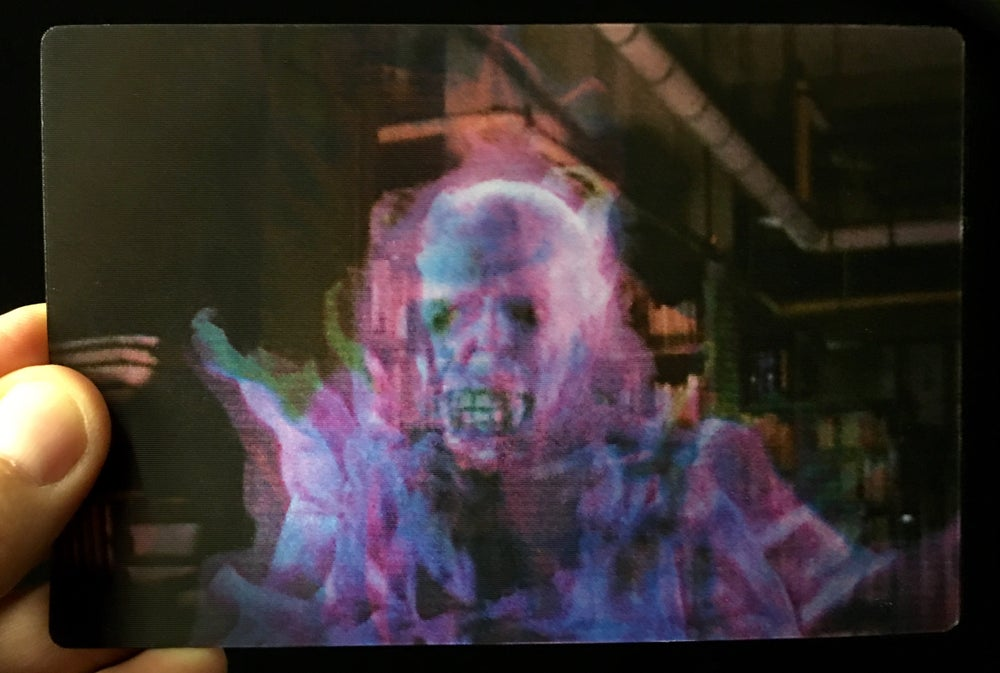 "Image of ""Get Her!""  Library Ghost Magic Motion Postcard"