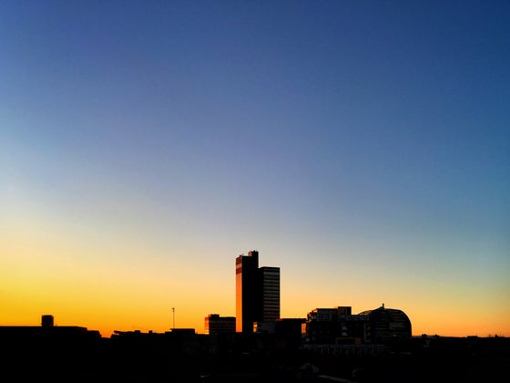 Image of THE CIS TOWER, MANCHESTER, AT DAWN
