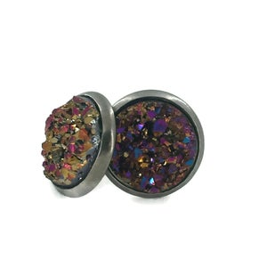 Image of Faux Pair of Druzy Earrings - Options Available