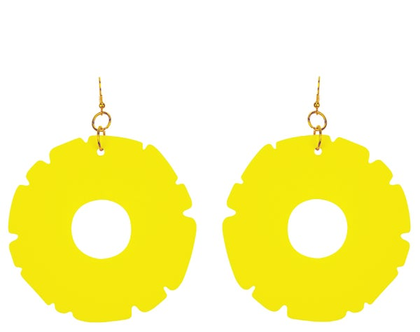 Pineapple Ring Earrings  - Black Heart Creatives