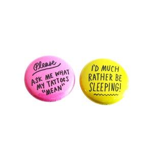 Image of Tattoos/Sleeping Pin Set