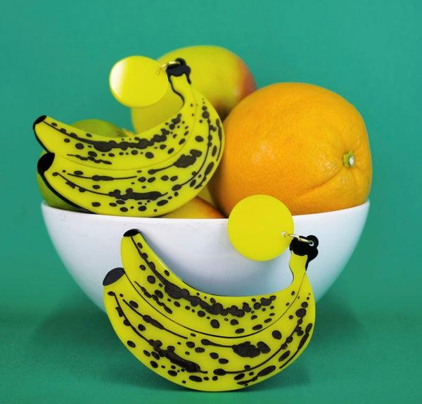 Banana Statement Earrings  - Black Heart Creatives
