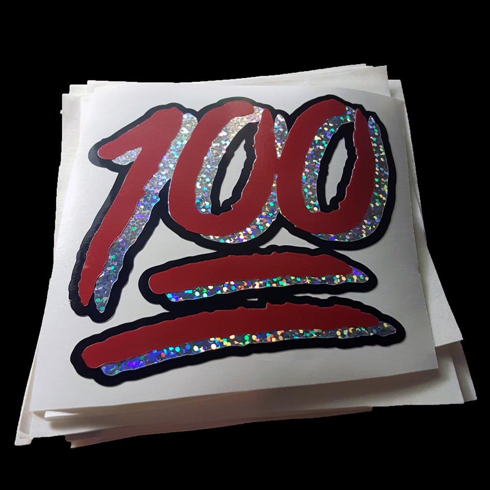 "Image of ""ONE HUNNID"" vinyl sticker"