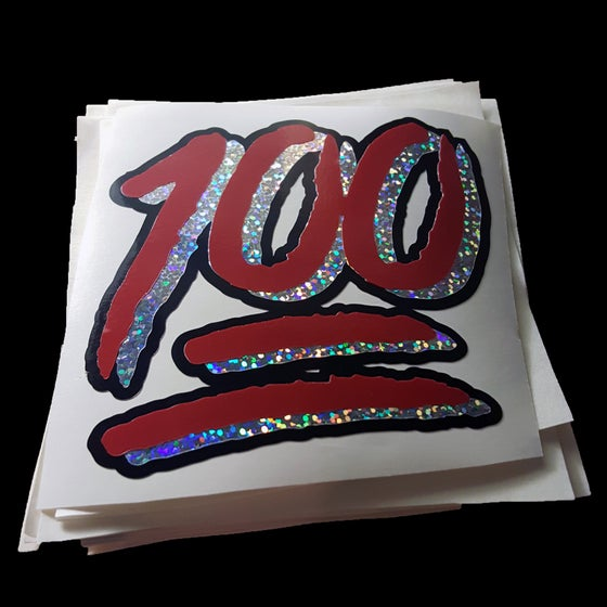 "Image of ""ONE HUNNID"" vinyl sticker"