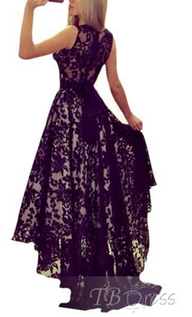 Image of HOT BLACK LACE DRESS
