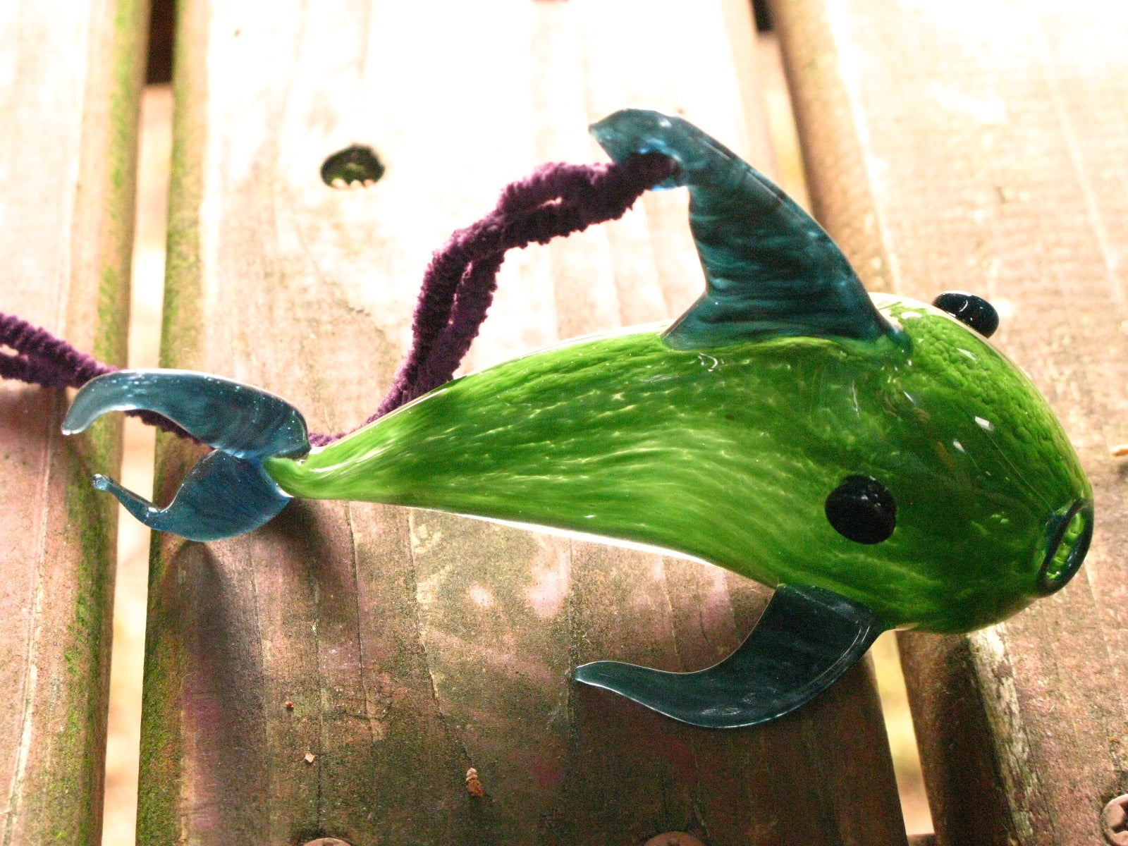 tdogharty — bright green fish ornament, Reel Combo