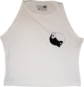 Image of SK8RATS Female Rat Ying Yang Crop Top