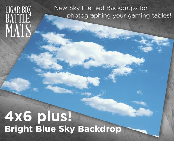 Image of Bright Blue Sky Backdrop - 4' x 6' PLUS  #332