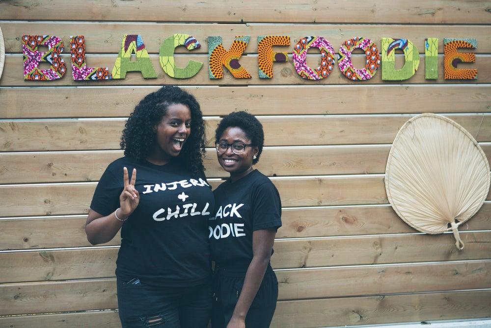 Image of Injera & Chill Black T- Shirt