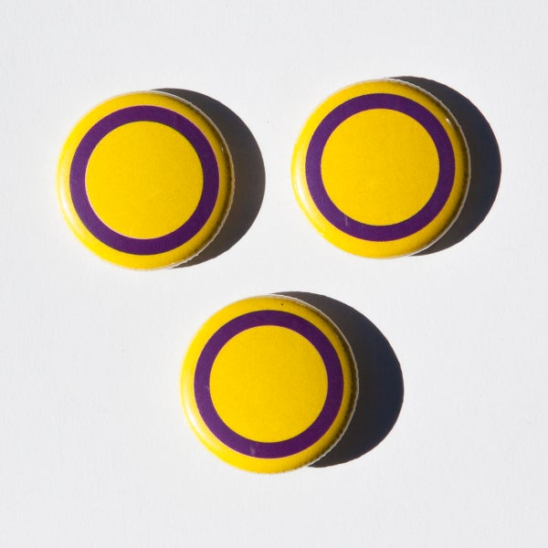 Image of Intersex flag badges