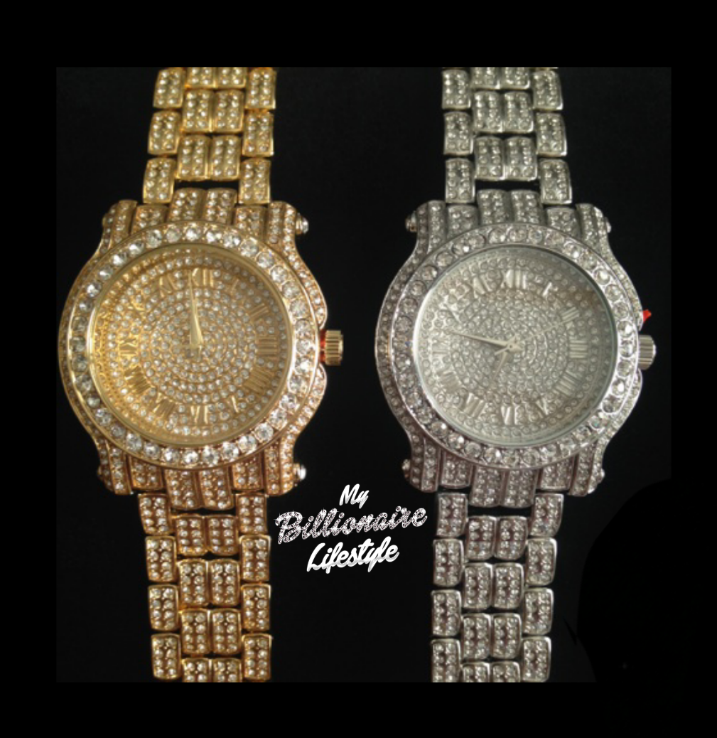 My Billionaire Lifestyle Gold Or Silver Bling Watch