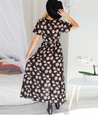 Image of HOT FLORAL LONG DRESS