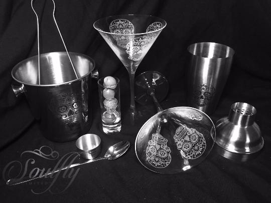 Image of Sugar skull cocktail set
