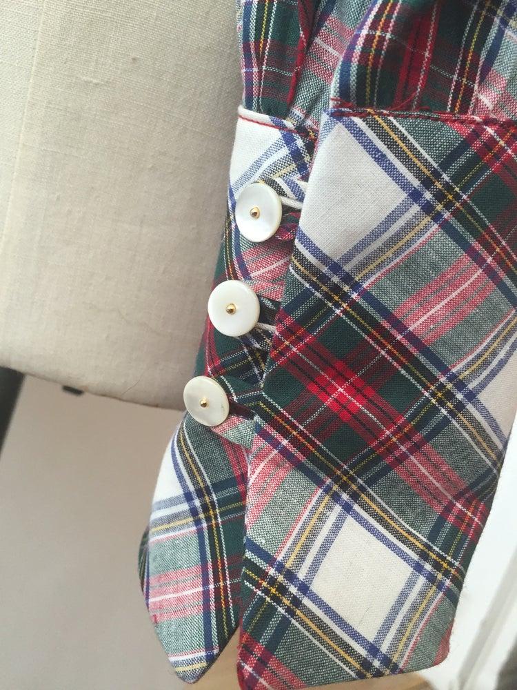 Image of Tartan tie neck shirt
