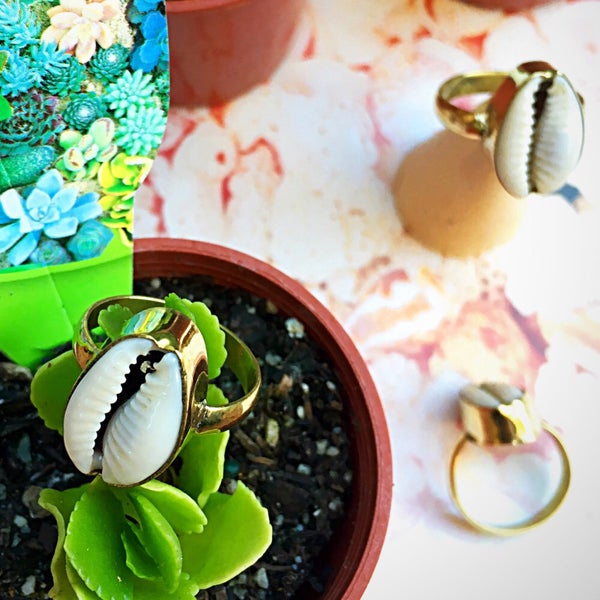 Image of Cowrie Shell Ring |Shantique Designs|
