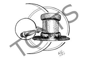 Image of The Grim-Gavel - Print (8.5x11 or 4x6)