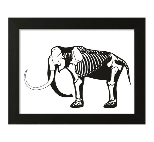 Image of Mammoth Skeleton Papercut