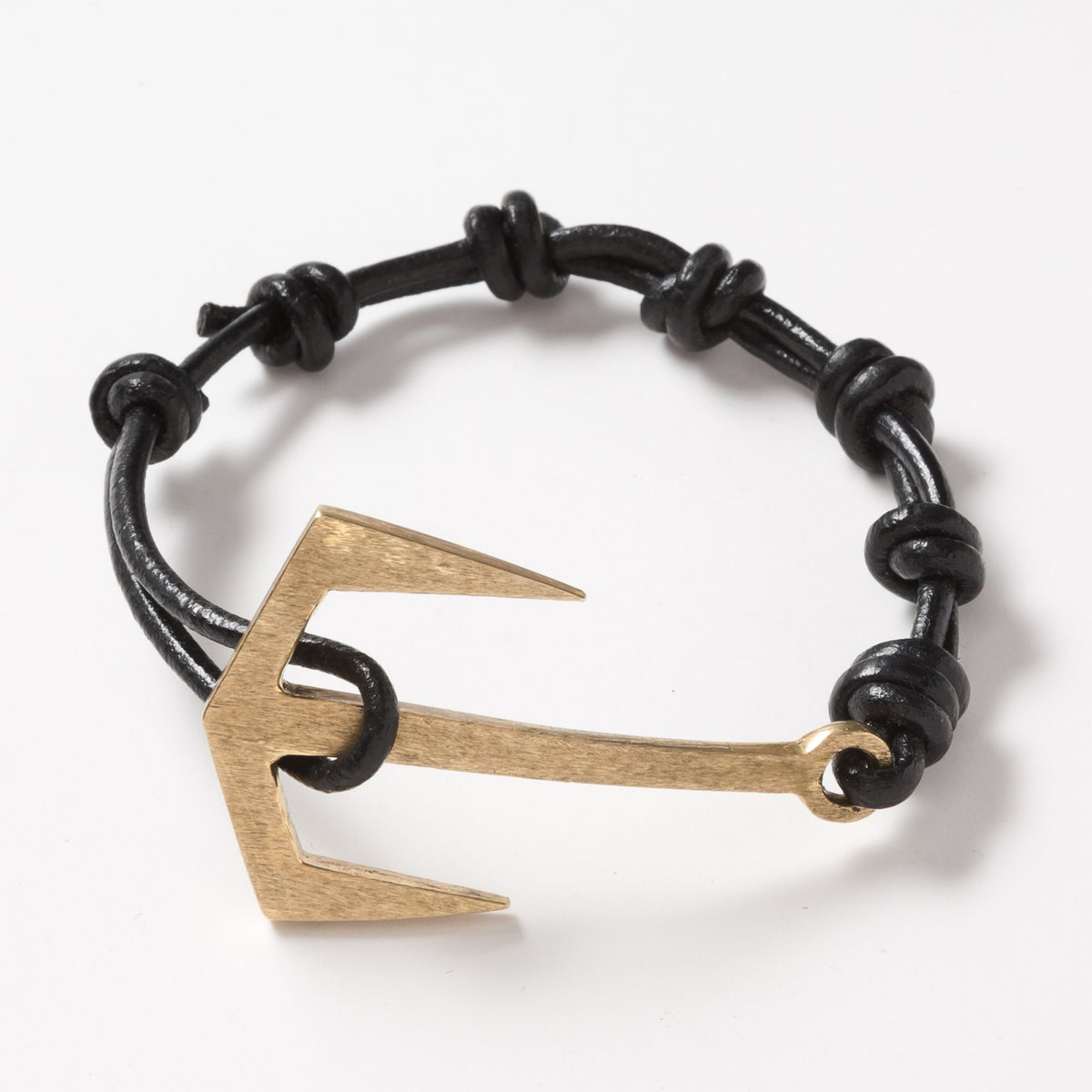 Image of Anchor Leather Bracelet