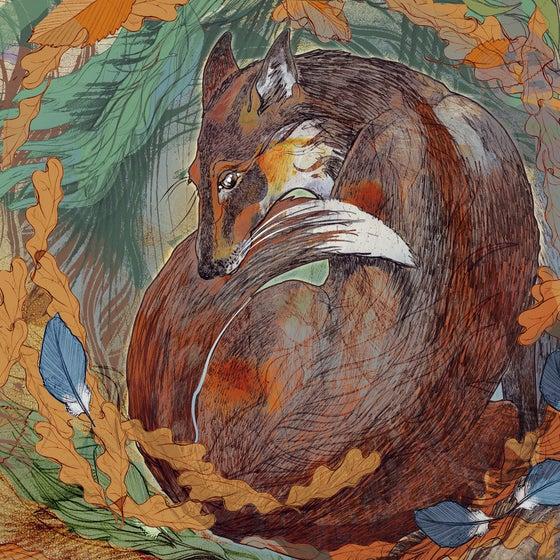 Image of Fox Den - Greetings Card