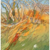 Image of Sunset Stroll - Greetings card