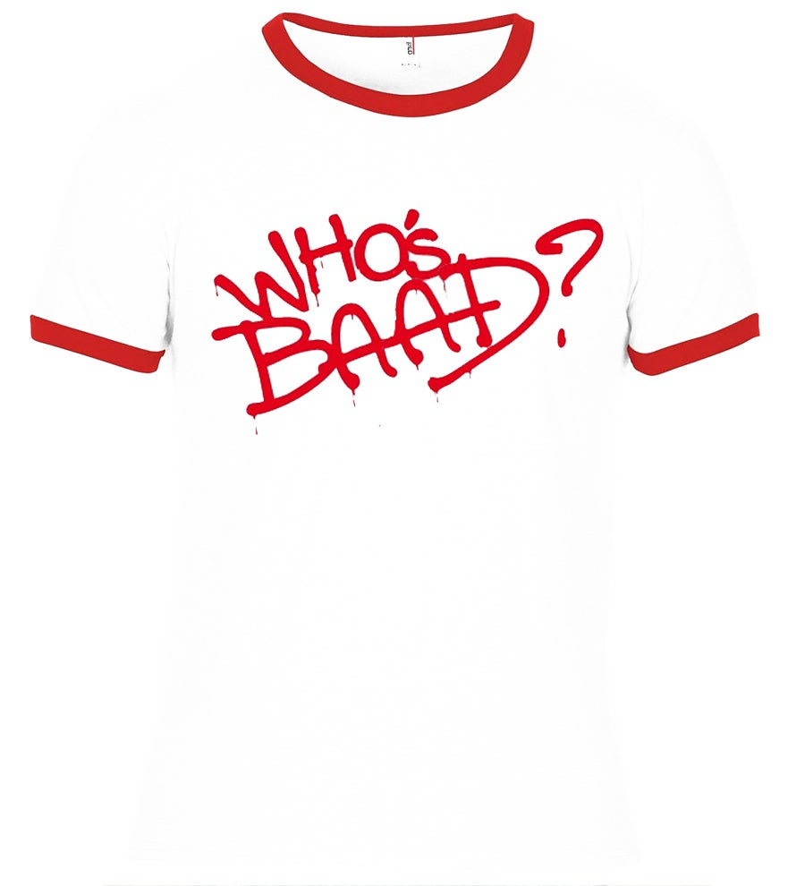 "Image of ""BAAD"" RINGER T-SHIRT"