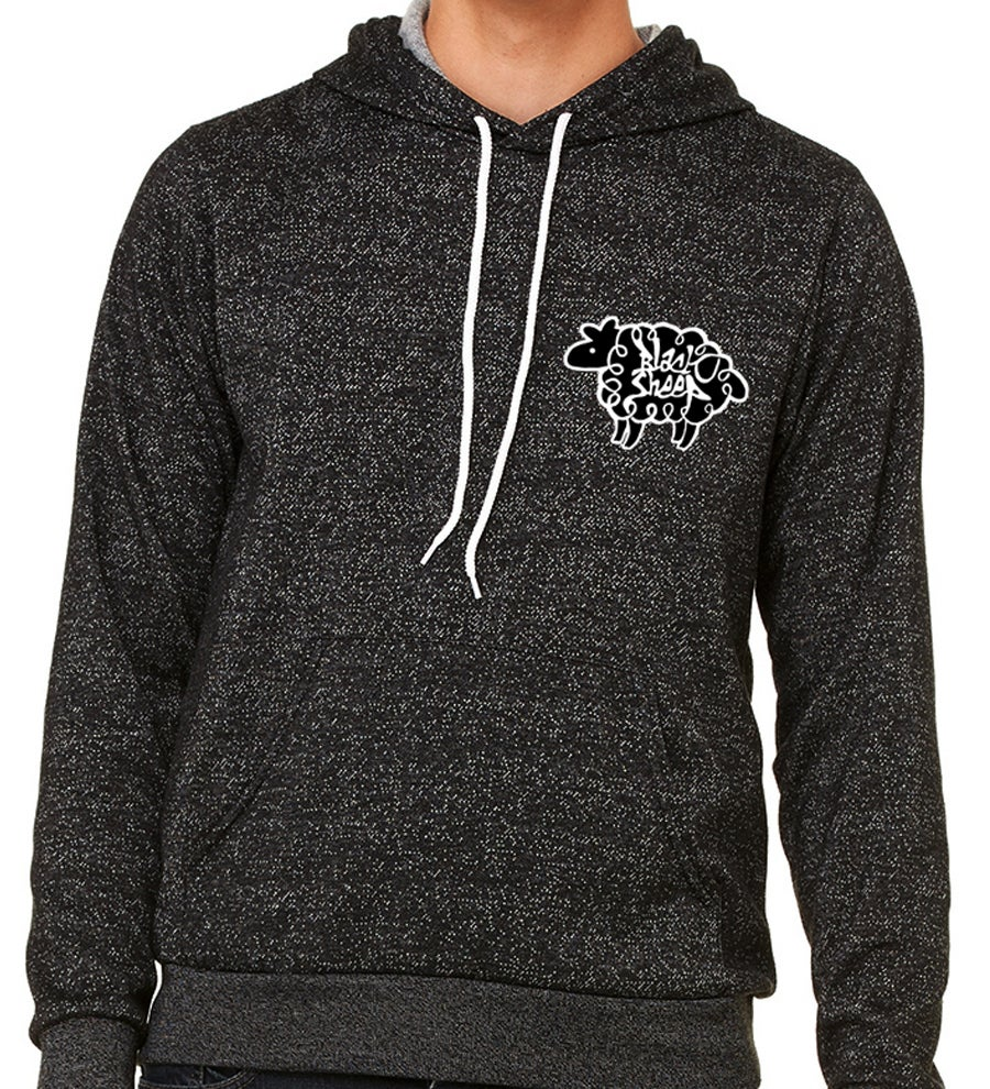 Image of SPECKLED HOODIE (BLACK HEATHER)