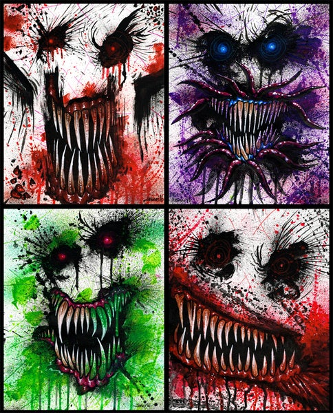 Image of 'Wall Monster' Art Print Package