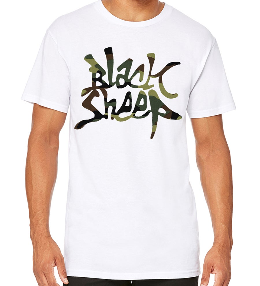 Image of LONG-LENGTH CAMO TEE (WHITE)