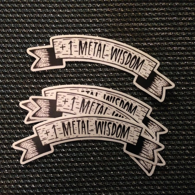 Image of +1 Metal Wisdom Stickers