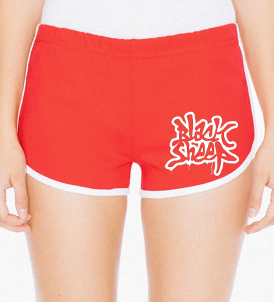 Image of WOMENS' DRIP SHORTS (RED)