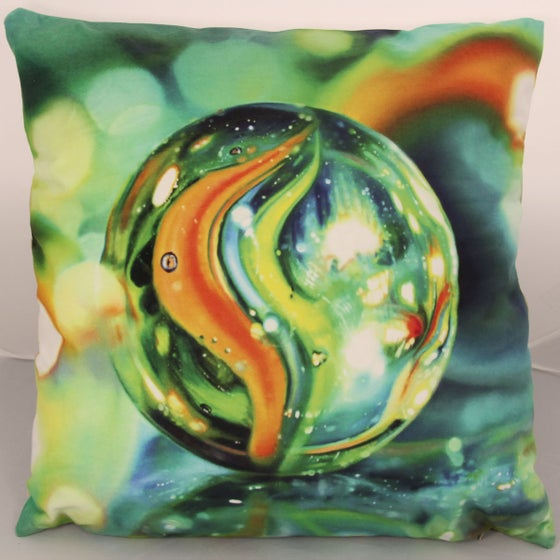 Image of 'Sea Of Marbles' cushion