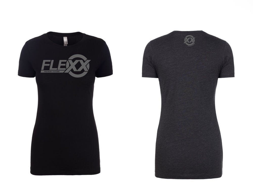 Image of Black/Grey Women's Flexx Tee
