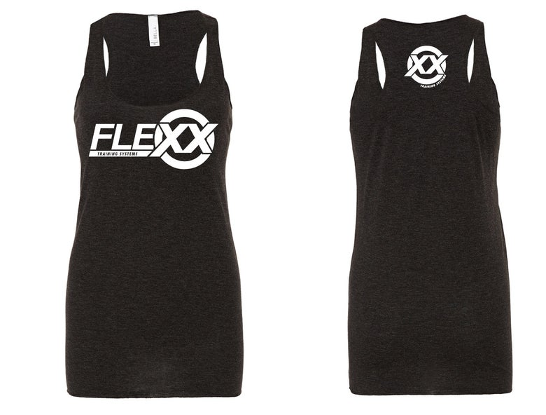 Image of Black/White Women's Flexx Racerback