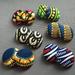 Image of isa - large ankara fabric button earrings