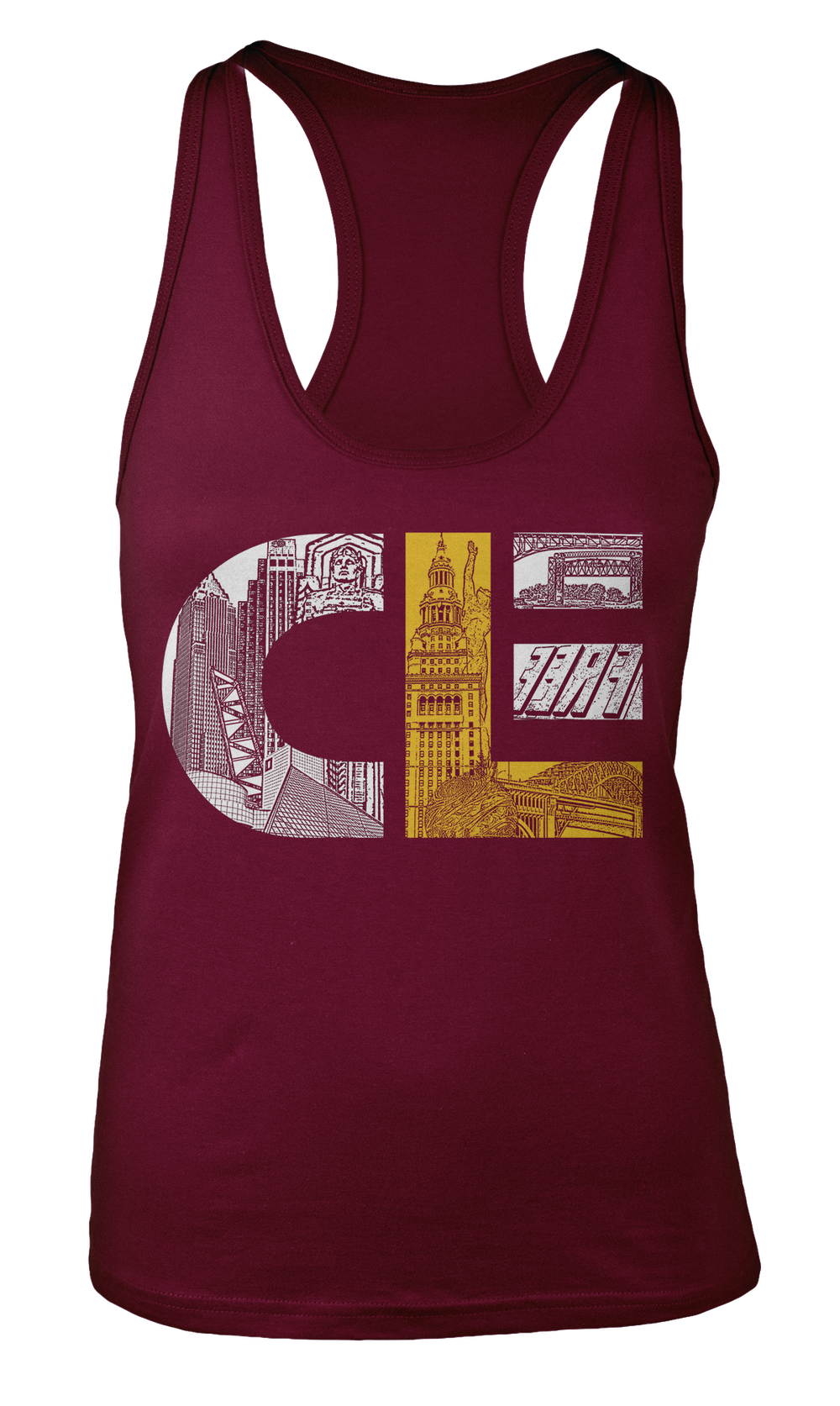 Image of CLE Maroon Girl's Tank