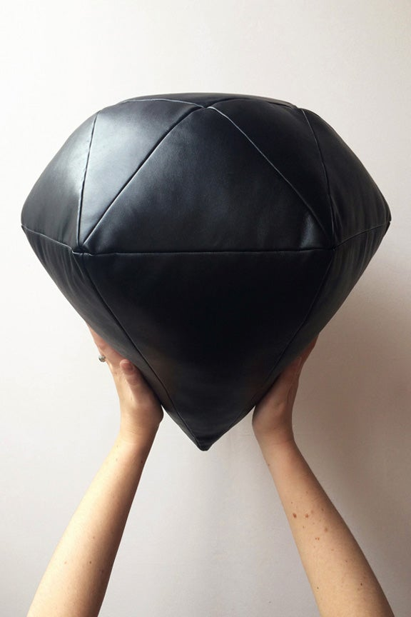 Image of Black Diamond Cushion