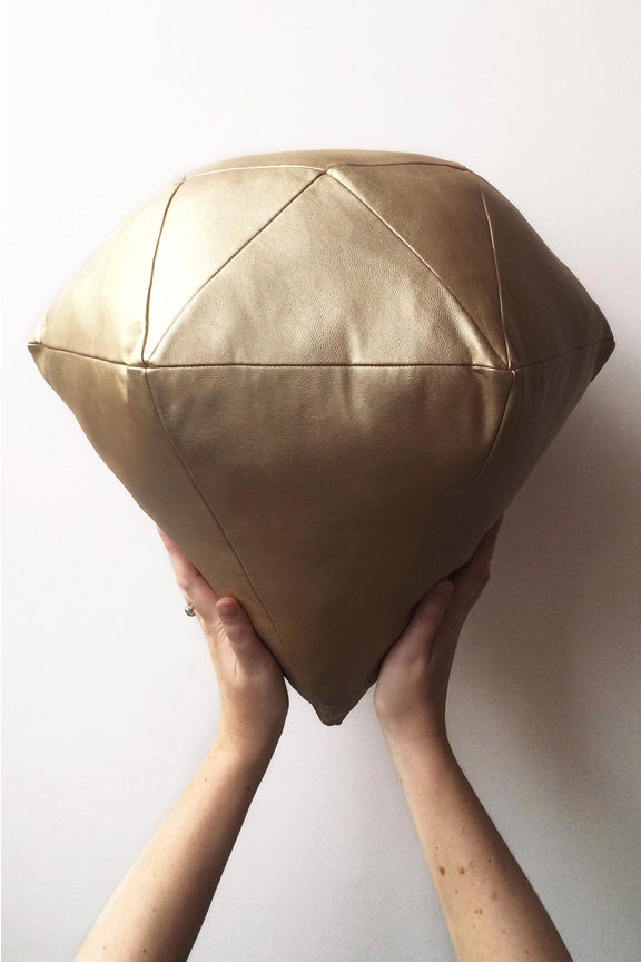 Image of Gold Diamond Cushion