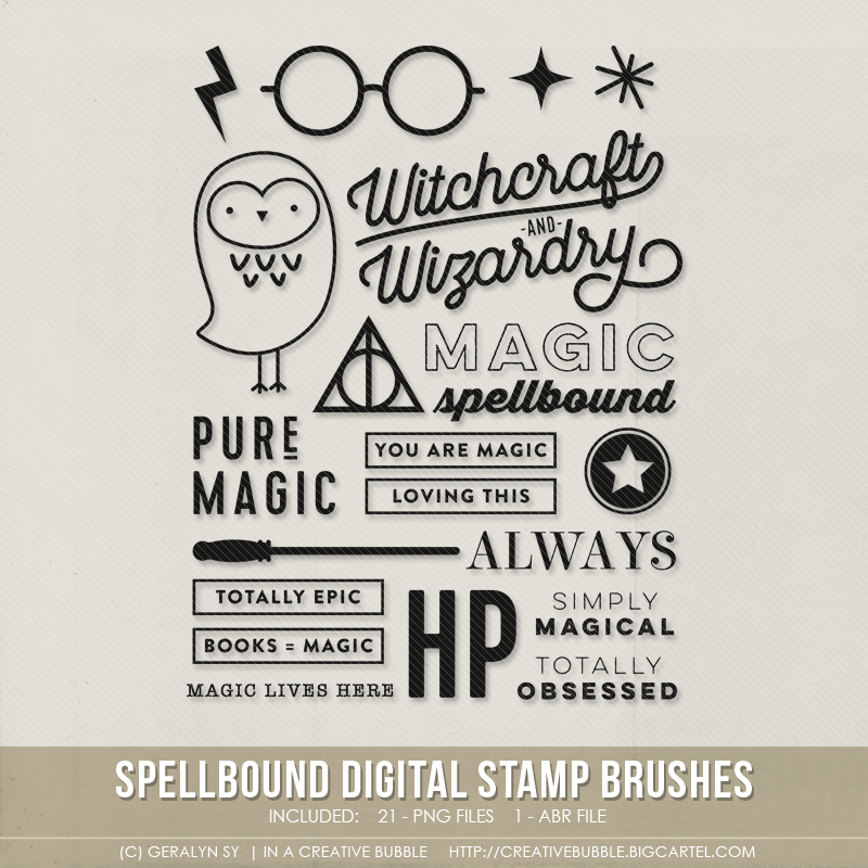Image of Spellbound Stamp Brushes (Digital)