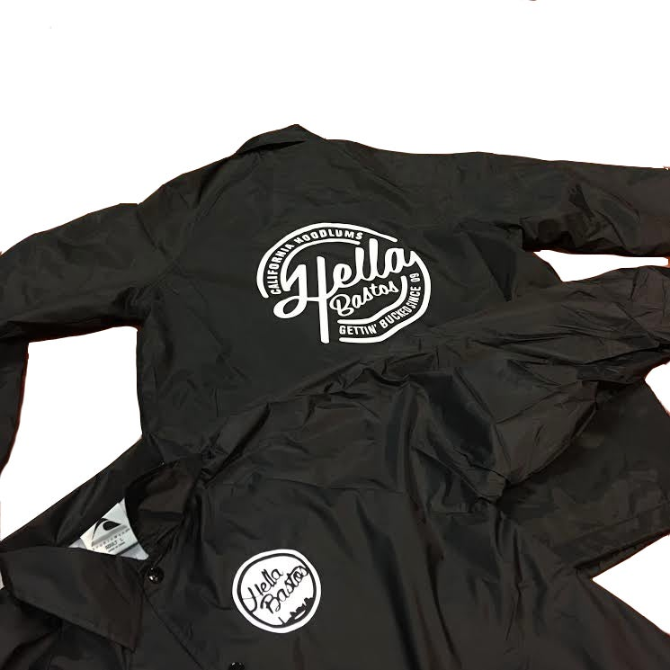 Image of Cali Hoodlum Nylon Jacket (Black)