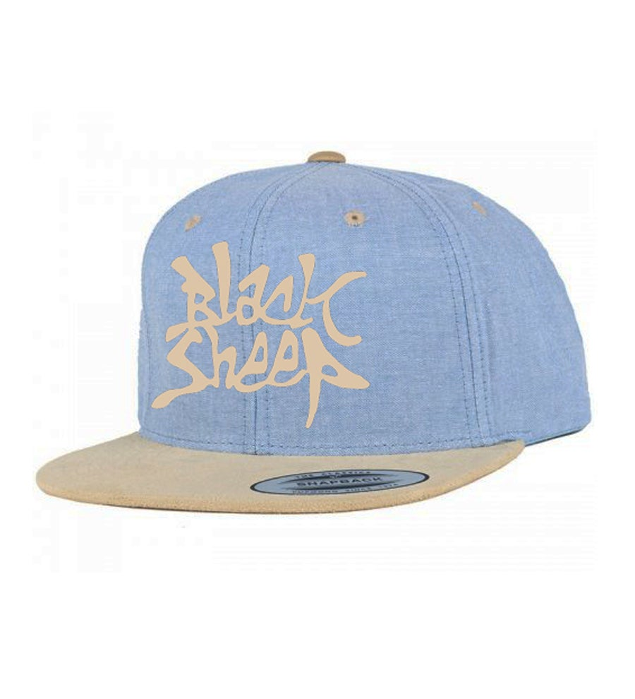 Image of SUEDE SNAPBACK (SKY/SAND)