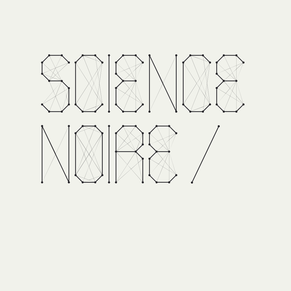 Image of Science Noire - font