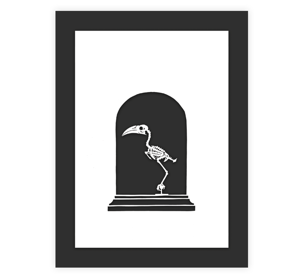Image of Hornbill Papercut