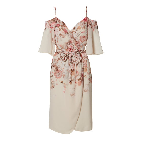 Image of Dorothea Cold Shoulder Dress - Cascade Floral