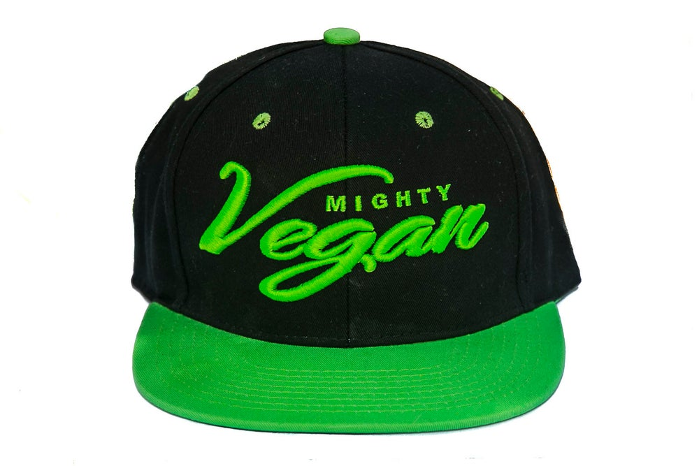 Image of *NEW* MVA BLACK/MIGHTY GREEN SNAPBACK HAT