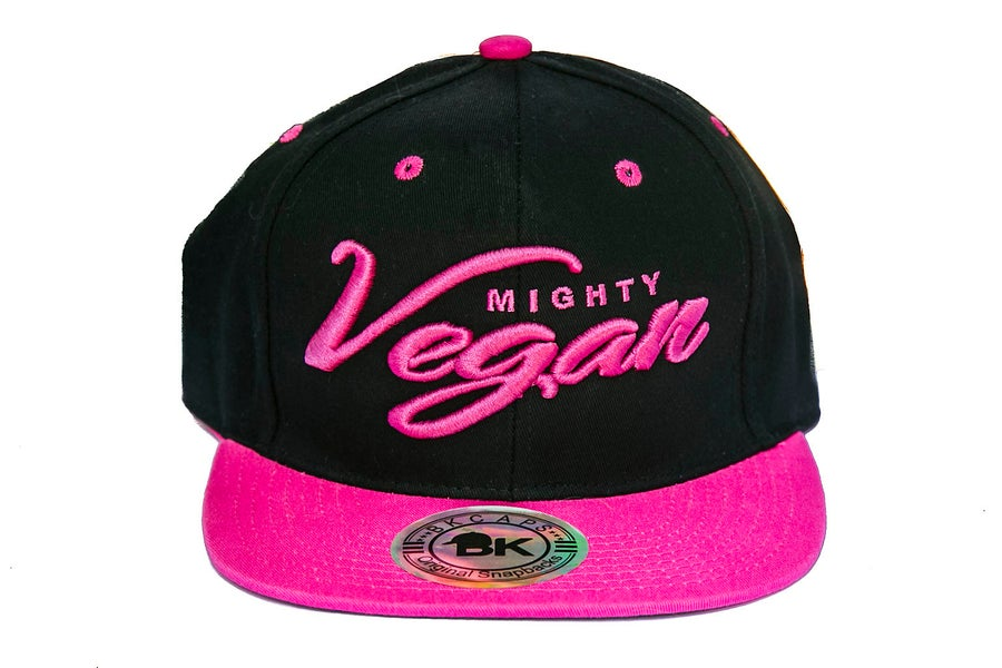 Image of MVA SNAPBACK - Black/HOT PINK BRIM