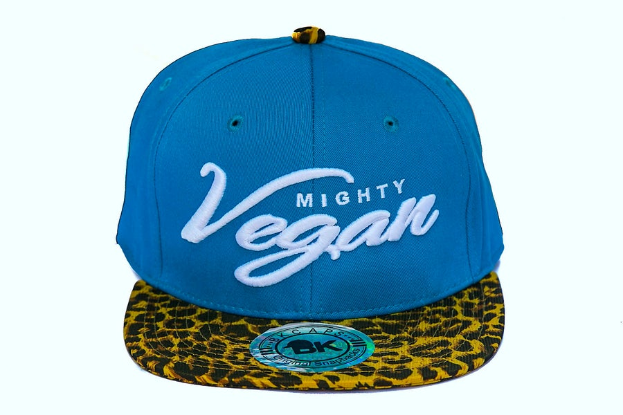 Image of MVA MINT-TURQUOISE/CHEETAH 3D SNAPBACK HAT
