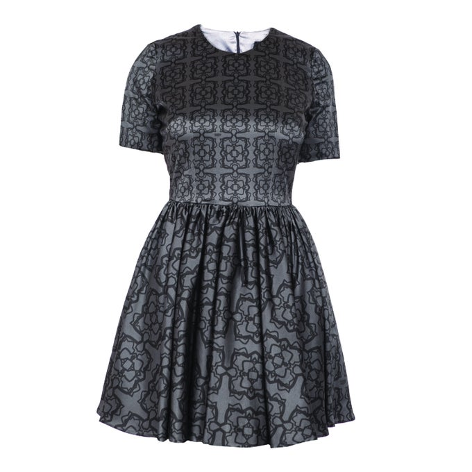Image of Bon Ton Dress| Geometry Grey Black