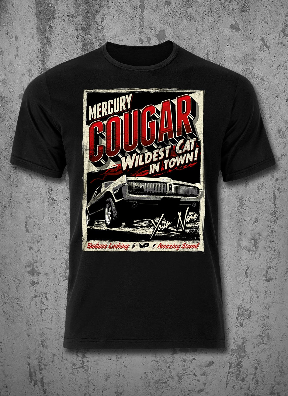 Image of Custom Cougar T-Shirt / Red / Male